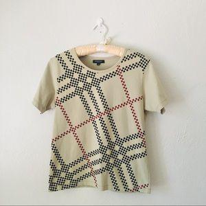 B U R B E R R Y  Digitized Nova Check T-shirt